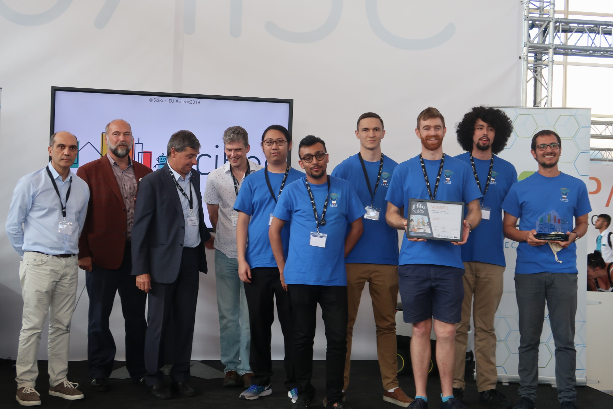 Congratulations to the winners of the 2019 SciRoc Challenge!